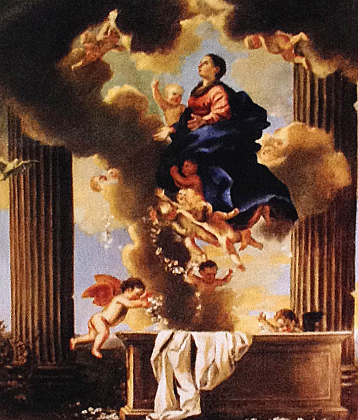 The Assumption of the Virgin, after Nicholas Poussin for the St Maria Church, Hakodate, Japan
