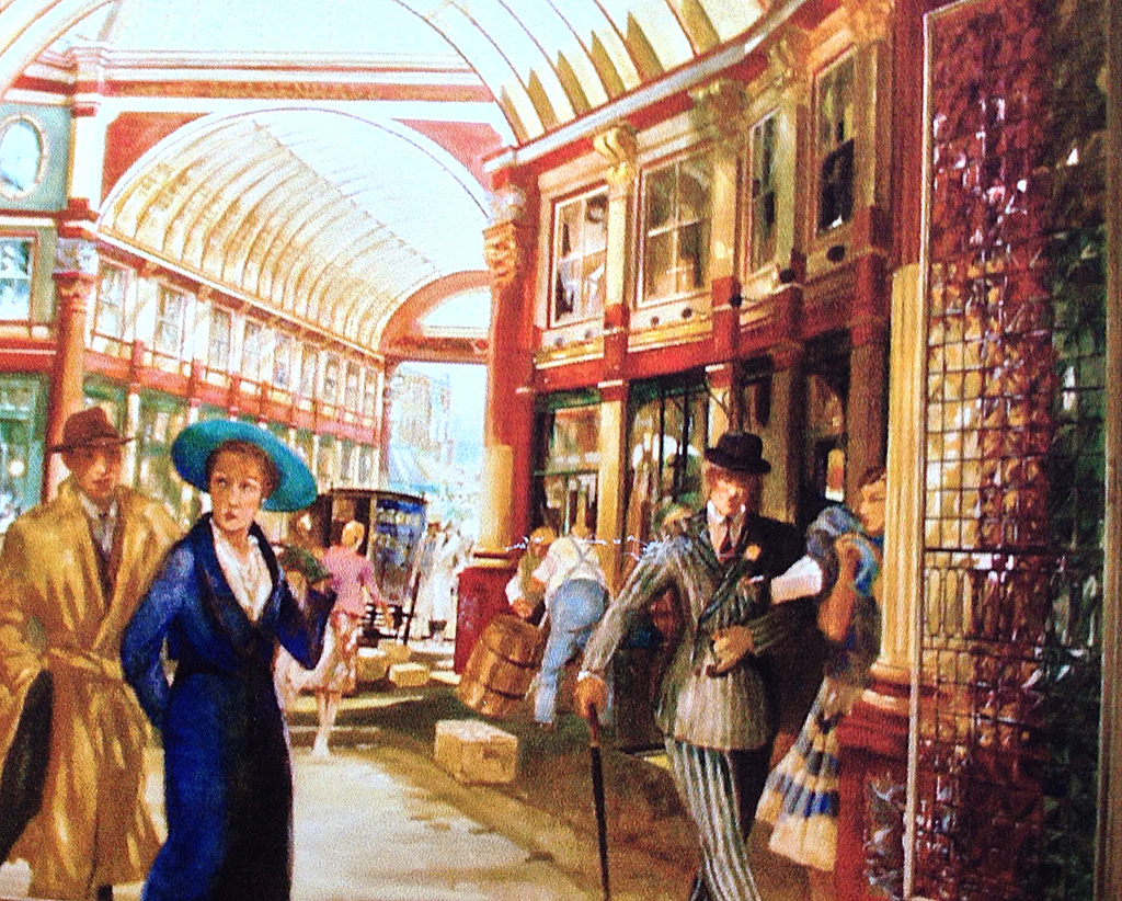 Leadenhall Market,  mural for Prudential Property Services in the City of London.