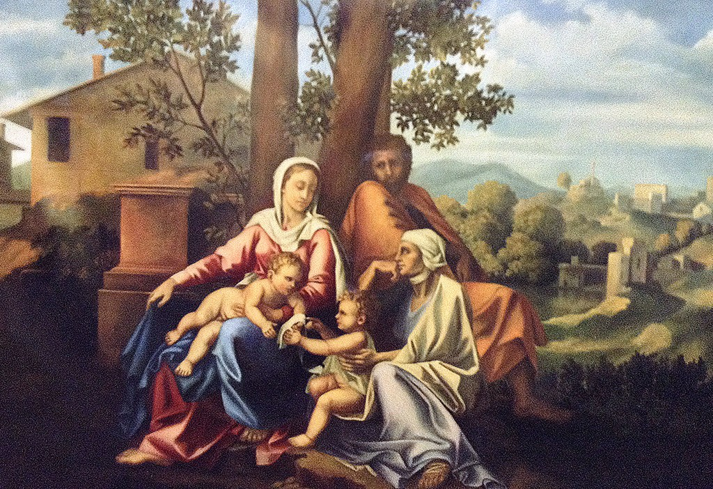 Church mural. The flight into Egypt after Nicholas Poussin, St. Maria Church, Hakodate, Japan.