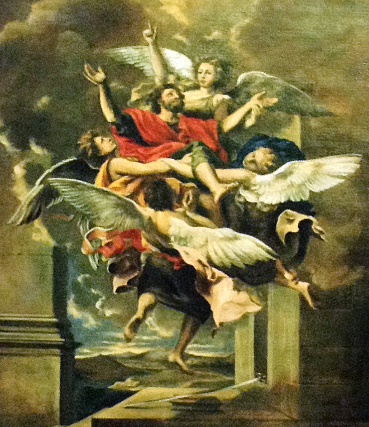 The Ascension, after Nicholas Poussin, St. Maria Church, Hakodate, Japan.