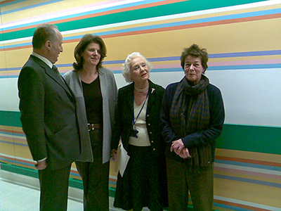 Bridget Riley Mural St Mary's Hospital Paddington