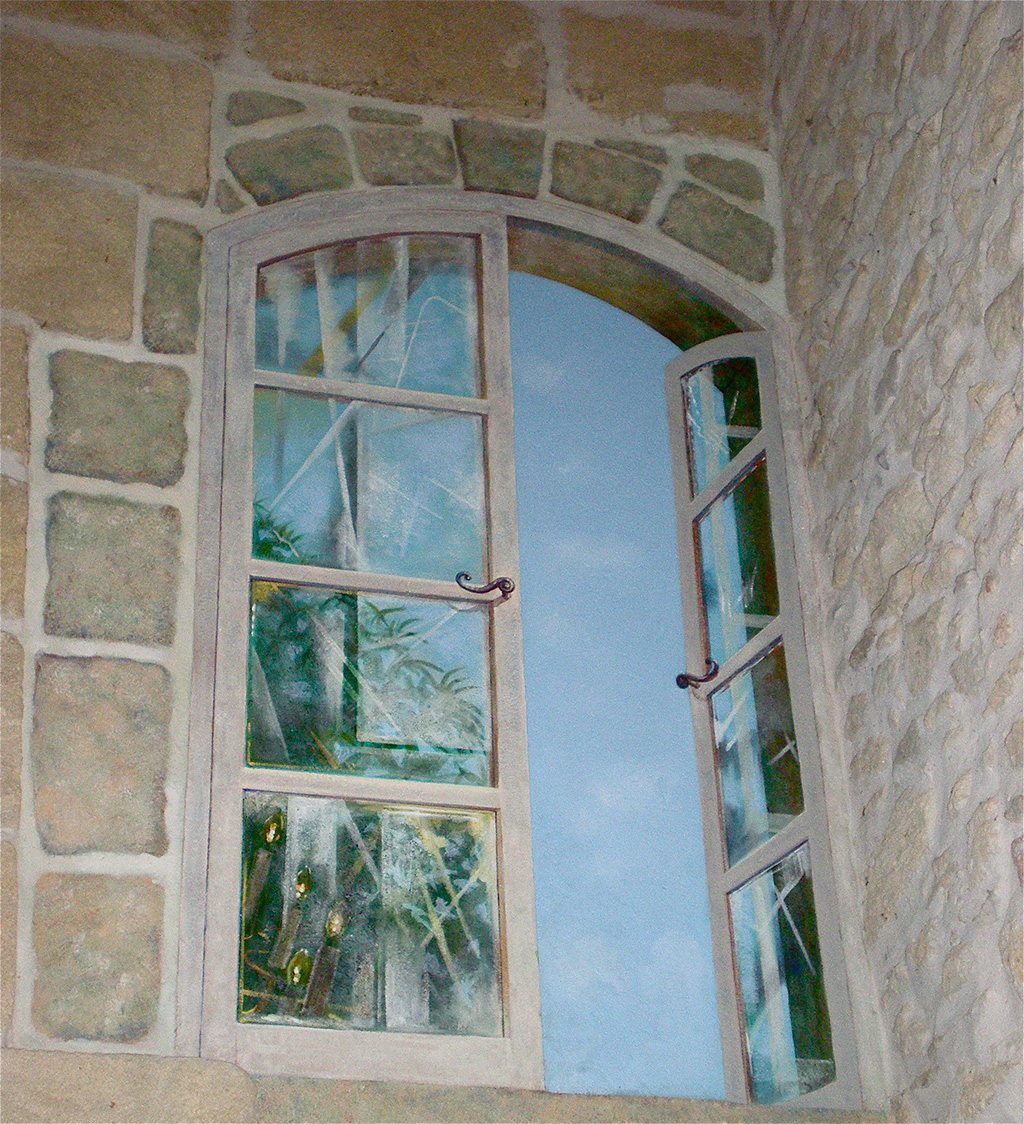 Trompe l'oeil window.