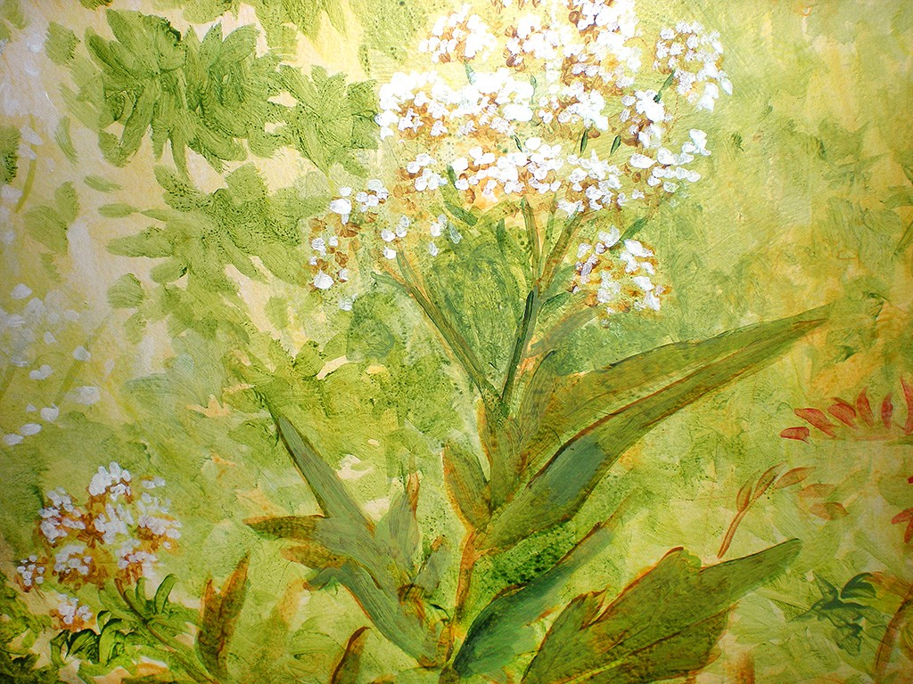 Flower painting, mural detail
