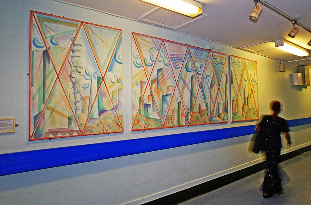 """View from the bridge"", triptych for St. Mary's Hospital, Paddington."