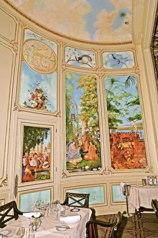 Panels depicting music around the world for the Great Gallery at RAC Club, Pall Mall, London.