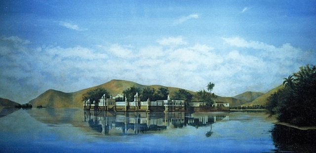 Lake Palace mural, Kuwait City