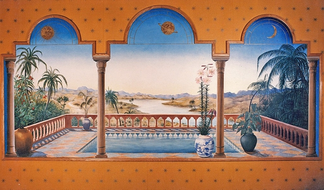 Orientalist Mural  for McDonald's Restaurant, Coventry