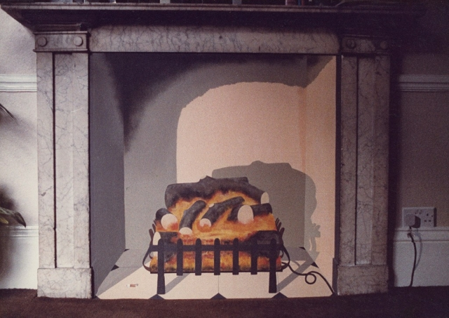 Trompe l'oeil fireplace mural panel, London