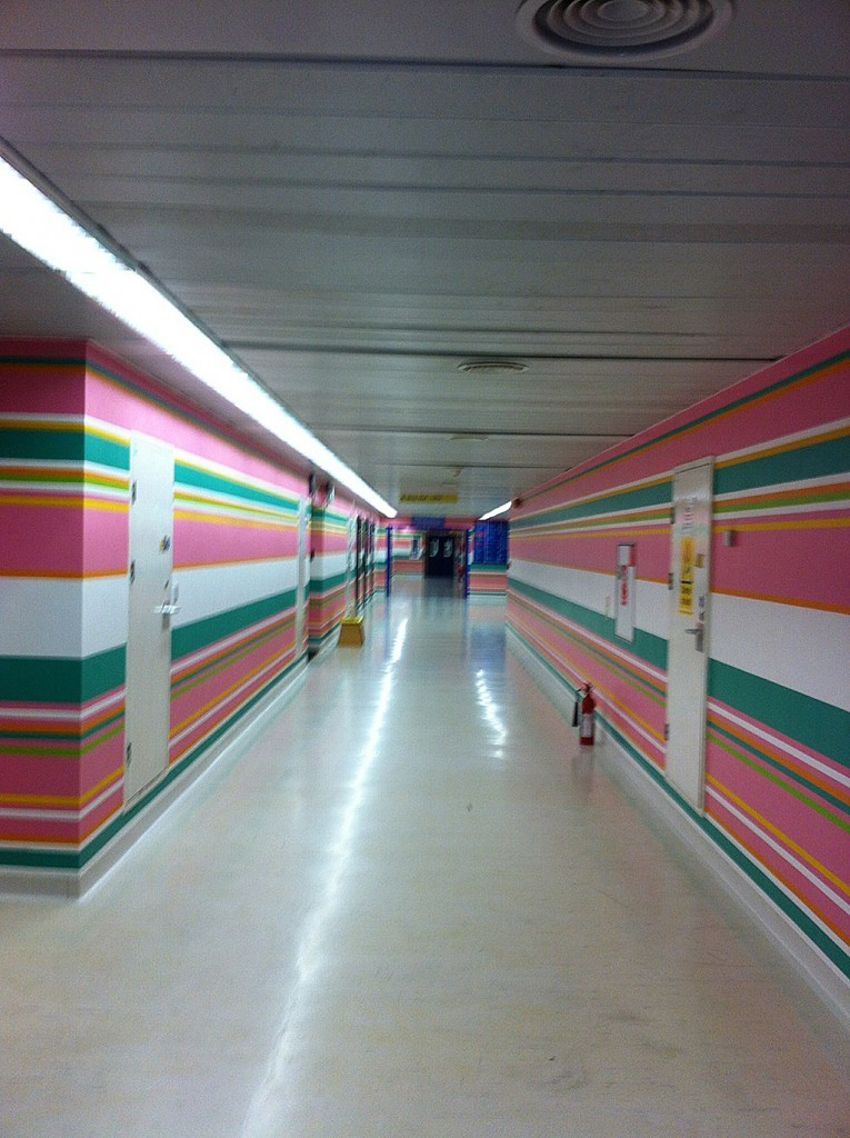Bridget Riley Mural, St Mary;s Hospital, Paddington
